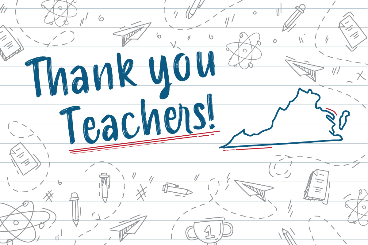 Thank You Virginia Teachers Photo